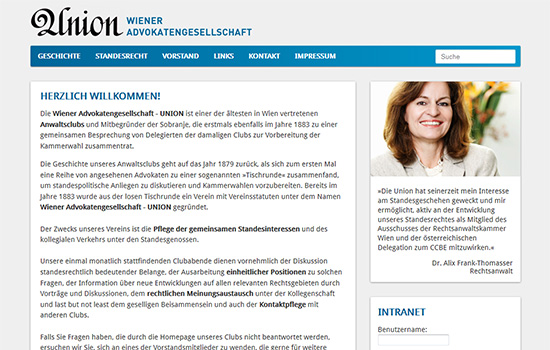 sitedefinition / Website / Wiener Advokatengesellschaft - UNION